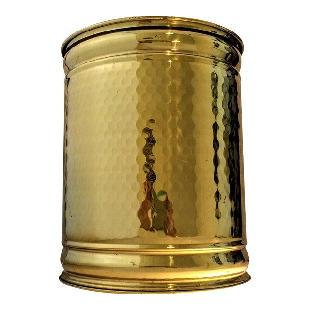 Vintage Hollywood Regency Hammered Brass Planter - Image 1 of 5