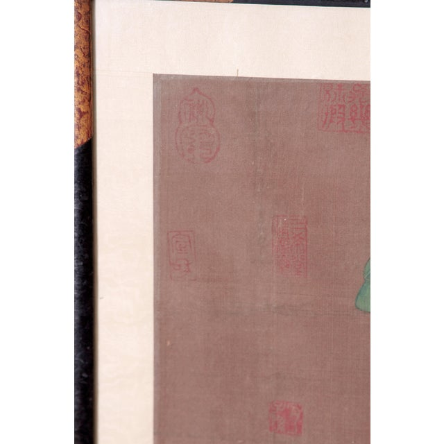 Chinese Scroll Painting of a Dignitary on Horseback For Sale - Image 9 of 11
