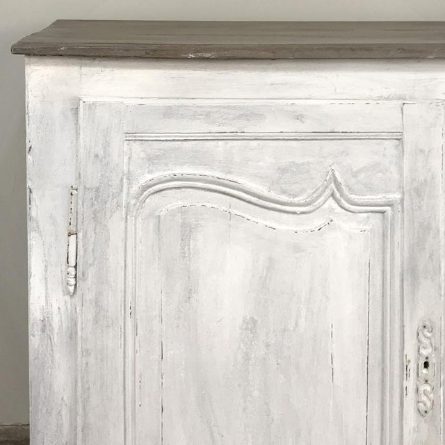 Wood 18th Century Country French Provincial Painted Buffet For Sale - Image 7 of 13