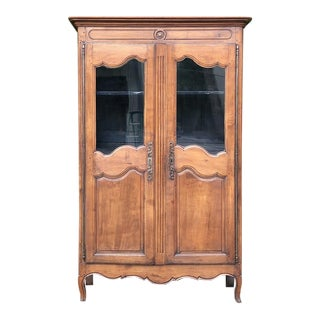 Early 19th Century Country French Provincial Fruitwood Bookcase ~ Vitrine For Sale