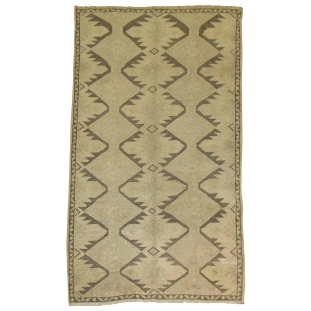 Vintage Turkish Geometric Runner - 3'6'' X 6'10'' For Sale