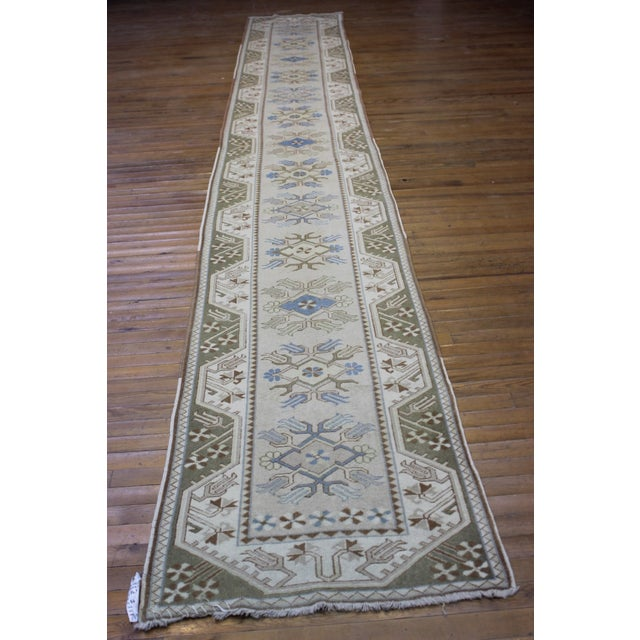 Turkish Oushak Runner - 2′7″ × 17′6″ - Image 2 of 9