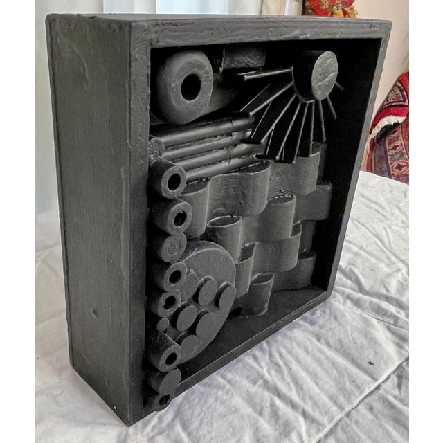 Mid-Century Modern Contemporary Assemblage Sculpture After Louise Nevelson For Sale - Image 3 of 6