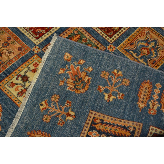 Textile Hand Knotted Persian Bakhtiari Wool Rug - 8′5″ × 9′9″ For Sale - Image 7 of 8