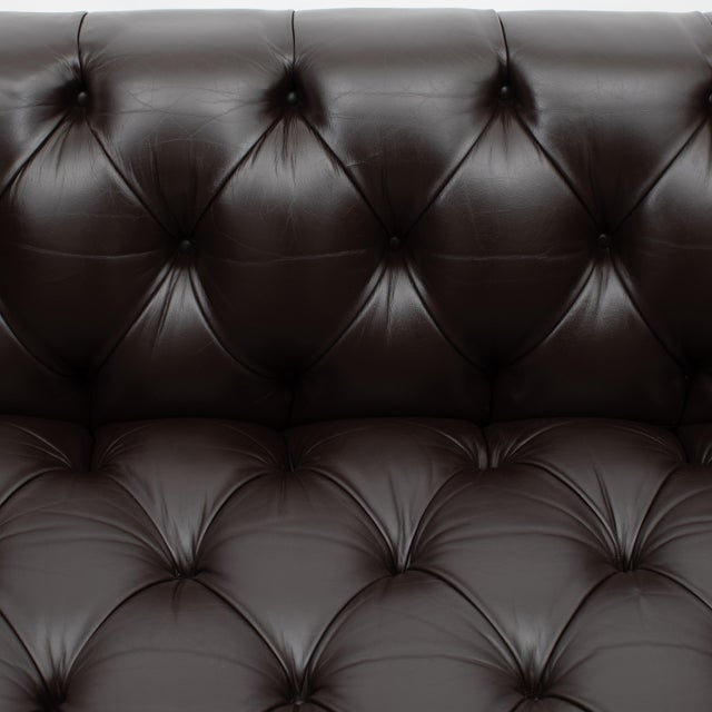 Ward Bennett Button-Tufted Leather Sofa for Lehigh Furniture, Circa 1960s For Sale - Image 9 of 13