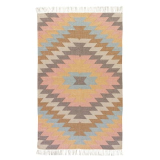 Jaipur Living Mojave Indoor/ Outdoor Geometric Multicolor Area Rug - 5′ × 8′ For Sale