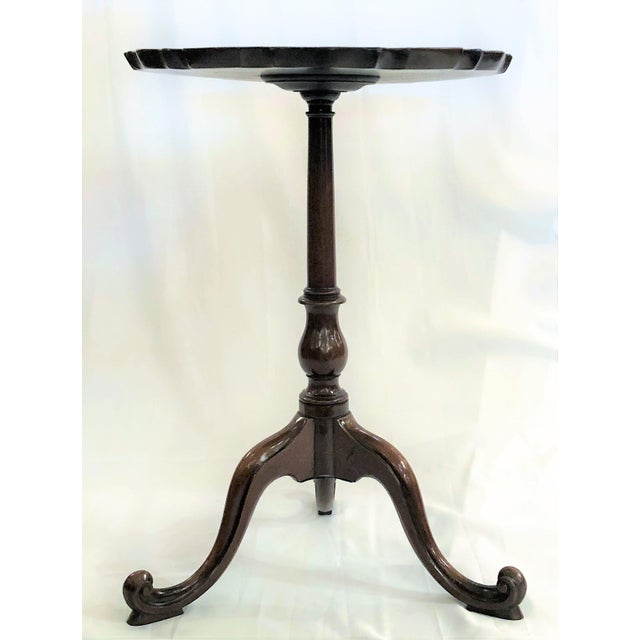 Antique George II Mahogany Candle Stand or Small Table, Circa 1780-1790.