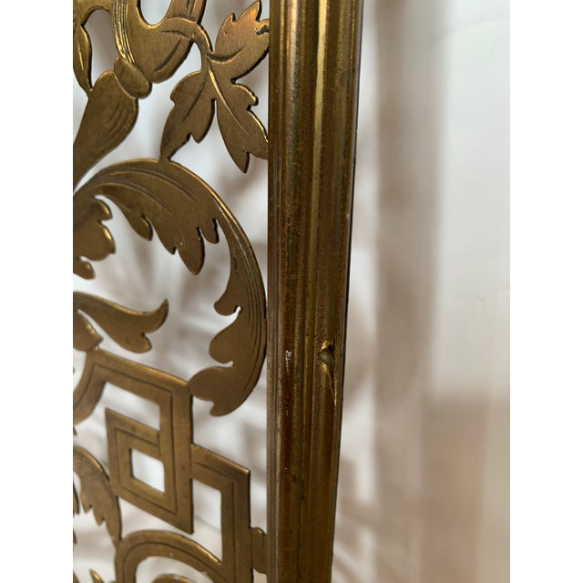 Vintage Pierced and Etched Brass Panels -A Pair For Sale In Philadelphia - Image 6 of 13
