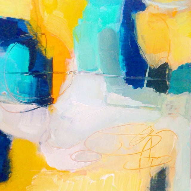 """""""Navy Like Others"""" Abstract Acrylic Painting - Image 1 of 2"""