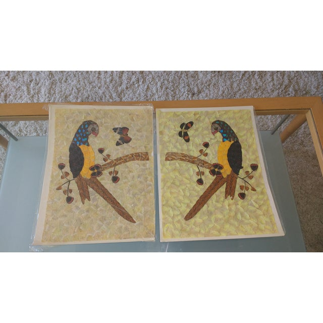 Vintage Mid-Century Butterfly Wing Art - Image 2 of 5