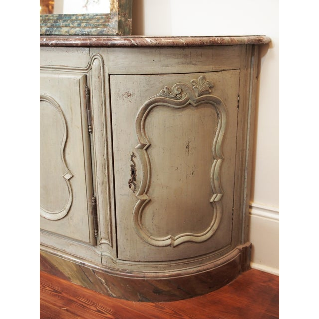 Late 18th Century Louis XV Style Marble Top Buffet For Sale - Image 5 of 10