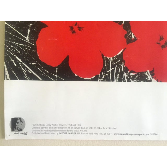 """Andy Warhol Foundation Vintage Pop Art Poster Print """" Flowers """" 1964 / 1967 For Sale - Image 11 of 13"""