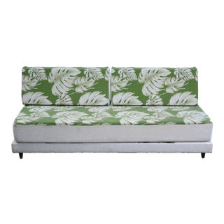 Mid-Century Modern Green Sofa For Sale