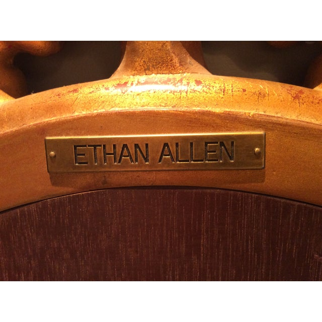 Ethan Allen Gold Bow Mirror - Image 10 of 10