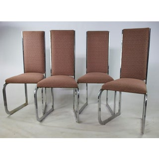 Mid-Century Modern High Back Chairs - Set of 4 Preview