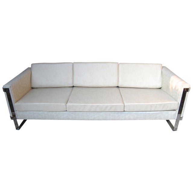 Milo Baughman Chrome Sofa - Image 1 of 6