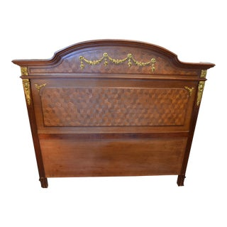 Antique Louis XVI Headboard With Ormula For Sale