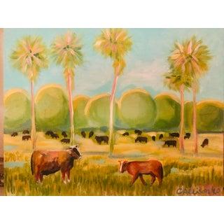 "Modern ""Florida Cracker"" Palmetto, Florida Painting For Sale"