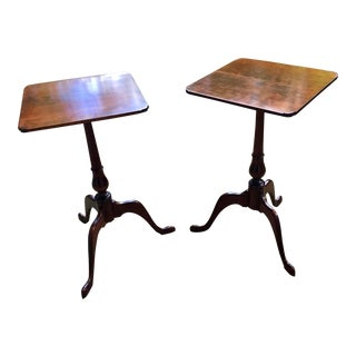 Queen Anne Style Side Tables- a Pair For Sale