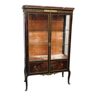 Louis XV Style Vernis Martin Vitrine Attr F. Linke For Sale