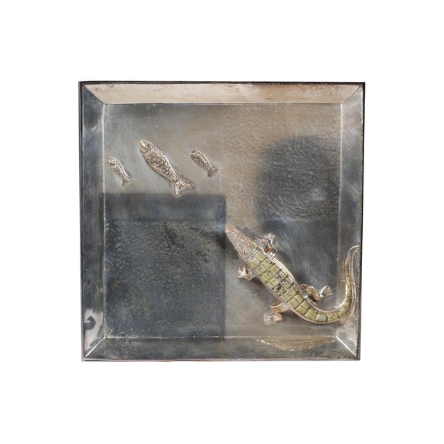 Silver Plated Alligator and Fish Tray - Image 4 of 5