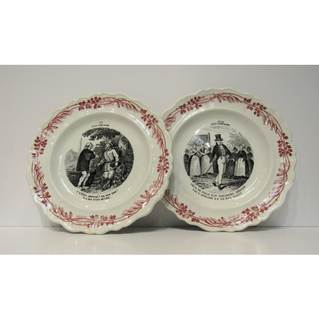 French Creilet Montereau Hors D' Oeuvres Dishes For Sale - Image 3 of 6