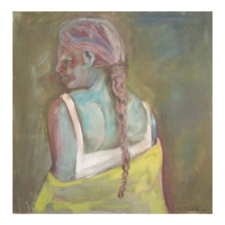 Girl With a Braid Painting