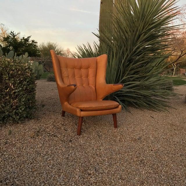 Hans Wegner Papa Bear Wingback Lounge Chair - Image 3 of 3