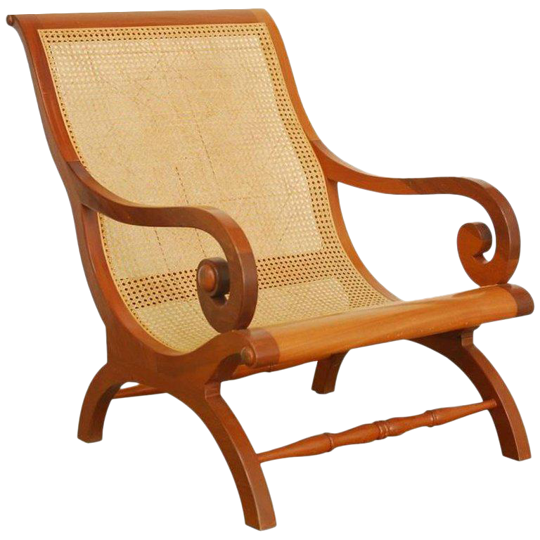 British Colonial Planters Chair Or Campeche Chair