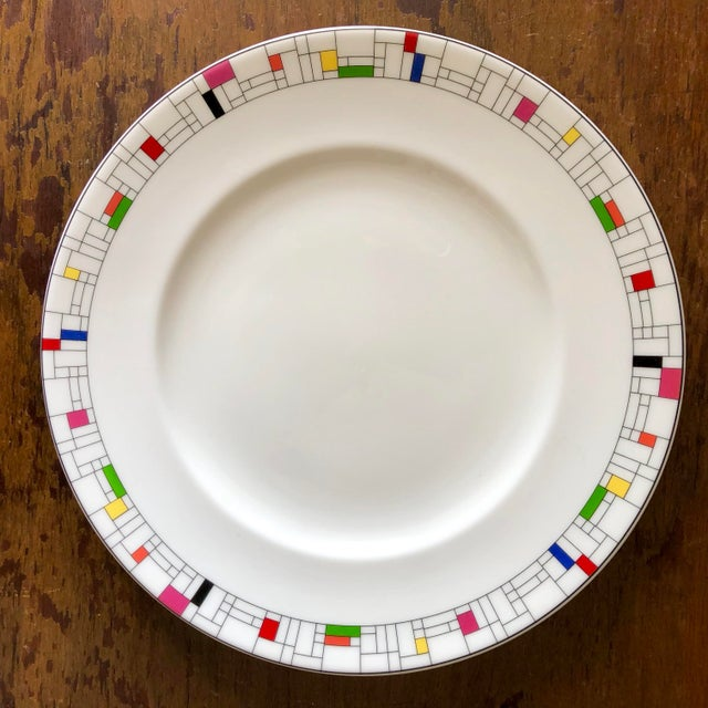 Lenox Gramercy Park Collection by Kate Spade for Lenox Luncheon Plates- a Pair For Sale - Image 4 of 4