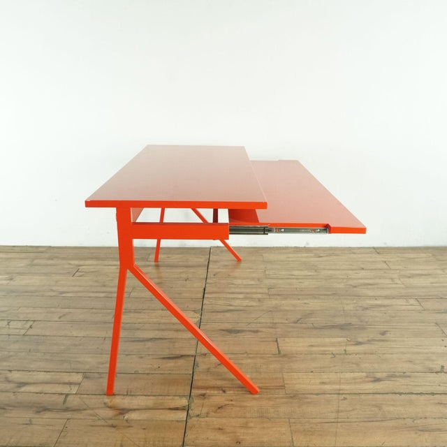 Blu Dot Contemporary Blu Dot Red Computer Desk For Sale - Image 4 of 10