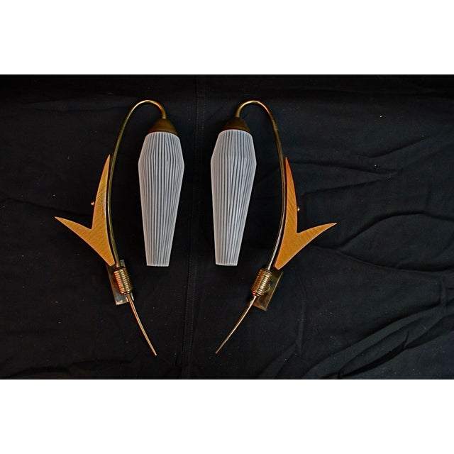 Mid-Century Modern French Mid Century Sconces - A Pair For Sale - Image 3 of 3