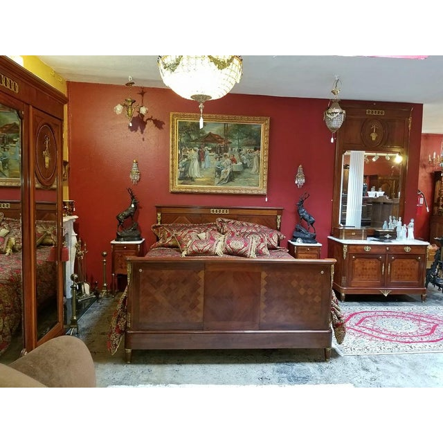 19c French Louis XVI Style Complete Bedroom Set For Sale - Image 4 of 12