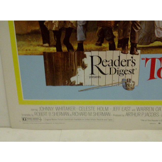 "Vintage Movie Poster A Musical Adaptation of Mark Twains ""Tom Sawyer"" 1973 For Sale - Image 4 of 6"