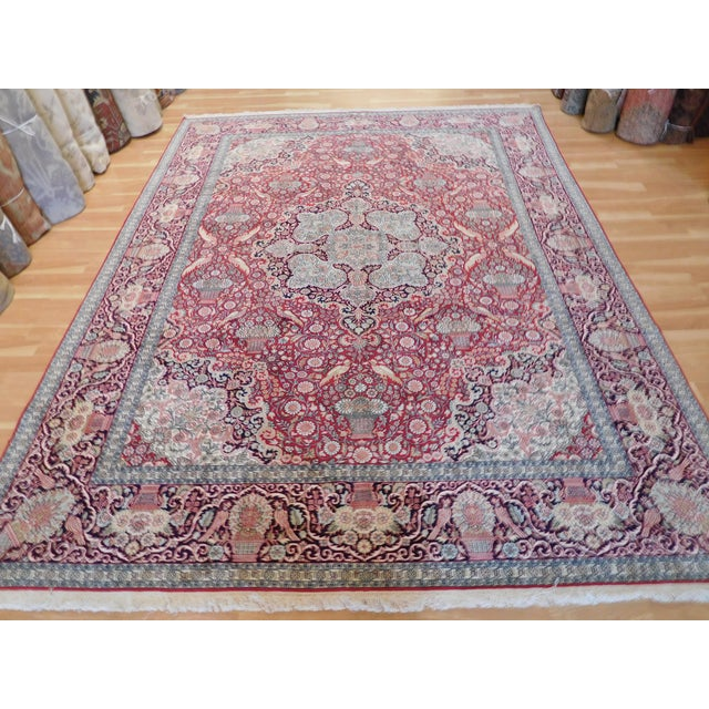 this is a silk kashmir Indian Rug with beautiful design, Indian has been a leader in the field of the 'new classic', the...