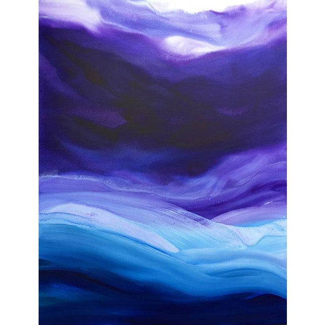 Acrylic Paint Teodora Guererra, 'Lavender Sky' Painting, 2017 For Sale - Image 7 of 7