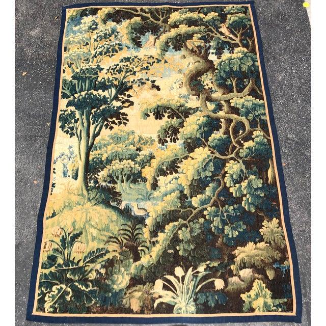 Antique 17th C Flemish Landscape Tapestry For Sale - Image 9 of 9