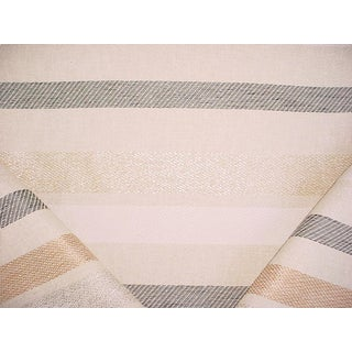 Traditional Dedar Milano Present Continuous Naturale Metallic Upholstery Fabric - 2-1/2y For Sale