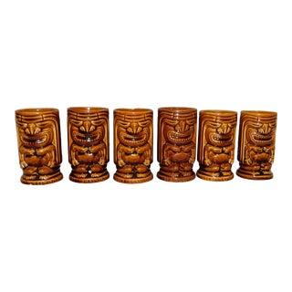 1960s Vintage Tiki Leilani Tumblers - Set of 6 For Sale