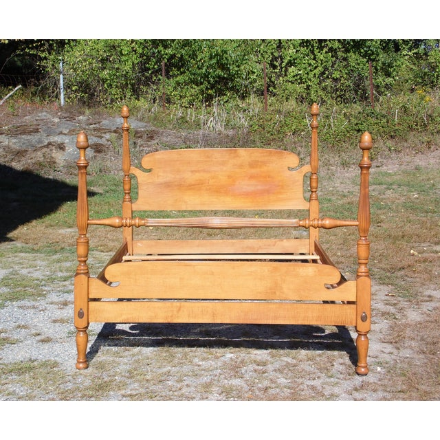 Vintage Ethan Allen Baumritter Early American Maple Full Double Poster Bed For Sale - Image 10 of 12
