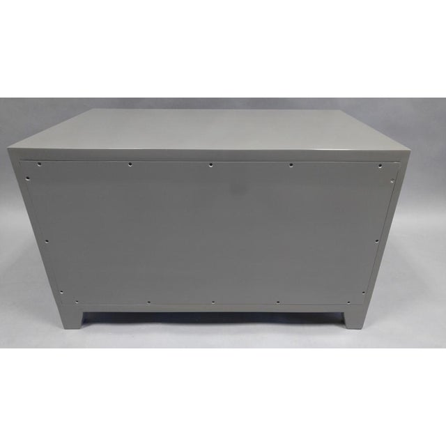 Contemporary End Table With Doors and Matching Side Panels For Sale In Los Angeles - Image 6 of 7