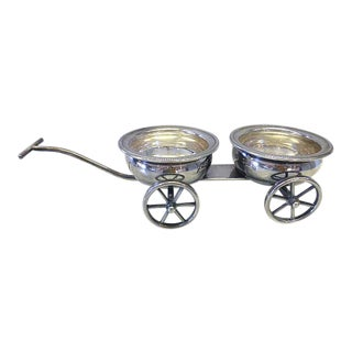 F. B. Rogers Silverplate Wine Coaster or Condiments Trolley Tableware For Sale