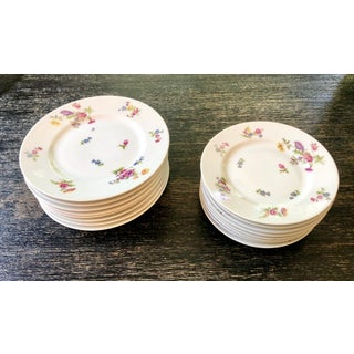 Early 1900s Bernardaud Limoges Floral Plates - Set of 16 Preview