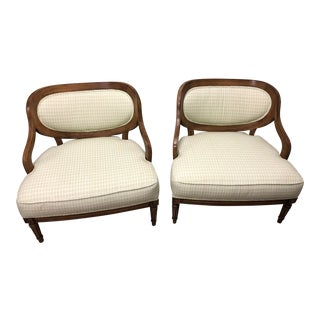 Grosfeld House Inspired Bedroom Chairs - a Pair For Sale