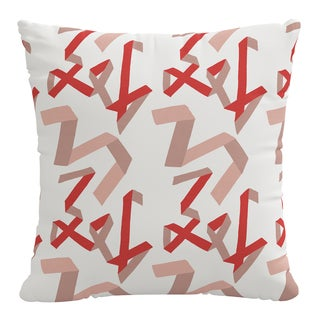 Pillow in Pink & Red Ribbon by Angela Chrusciaki Blehm for Chairish
