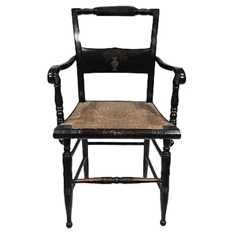 Tole Painted Hitchcock-Style Accent Chair - Image 1 of 9