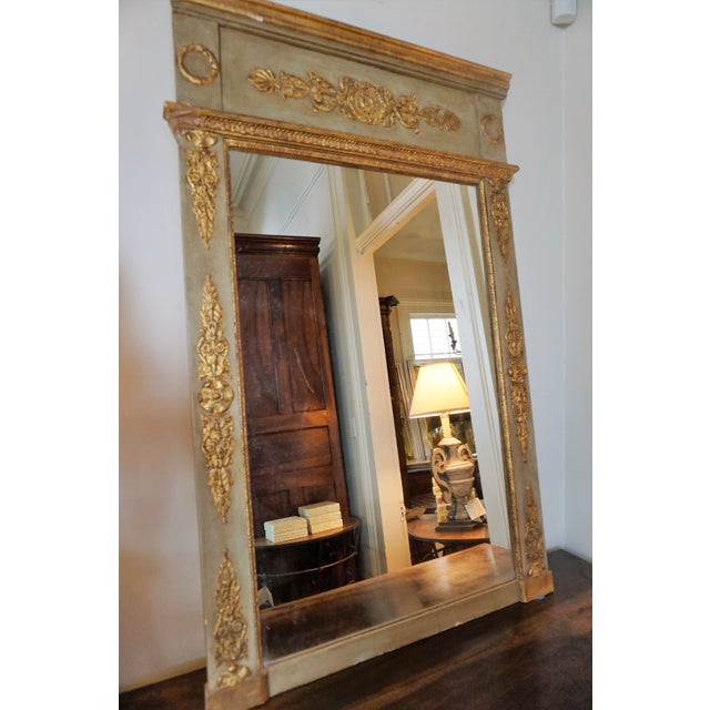18th Century Louis XVI Trumeau Mirror For Sale - Image 10 of 11