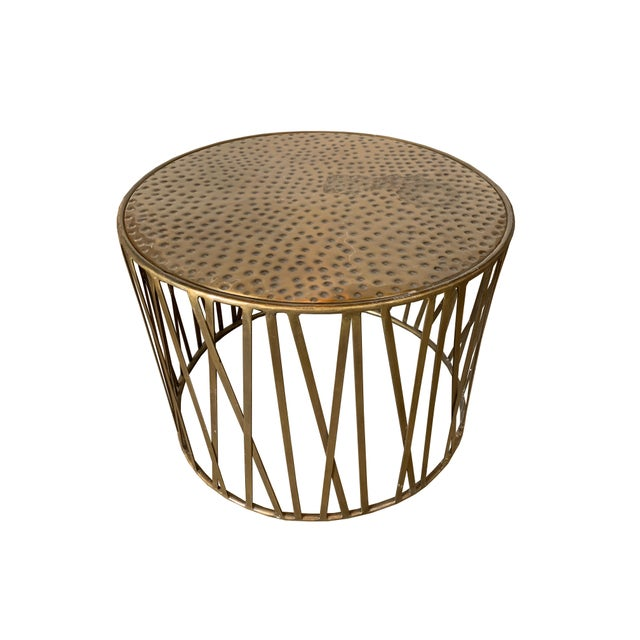 Stupendous Boho Chic Mr Brown Gold Hammered Accent Table Gamerscity Chair Design For Home Gamerscityorg