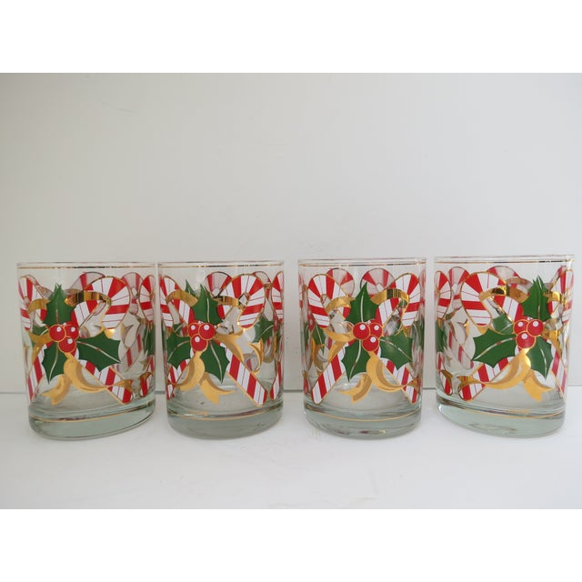 Culver Candy Cane Glasses - S/4 - Image 3 of 6