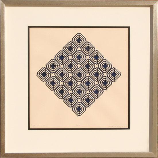 Mid-Century Modern 1969 Anne Youkeles Fifth Dimension Print For Sale - Image 3 of 3